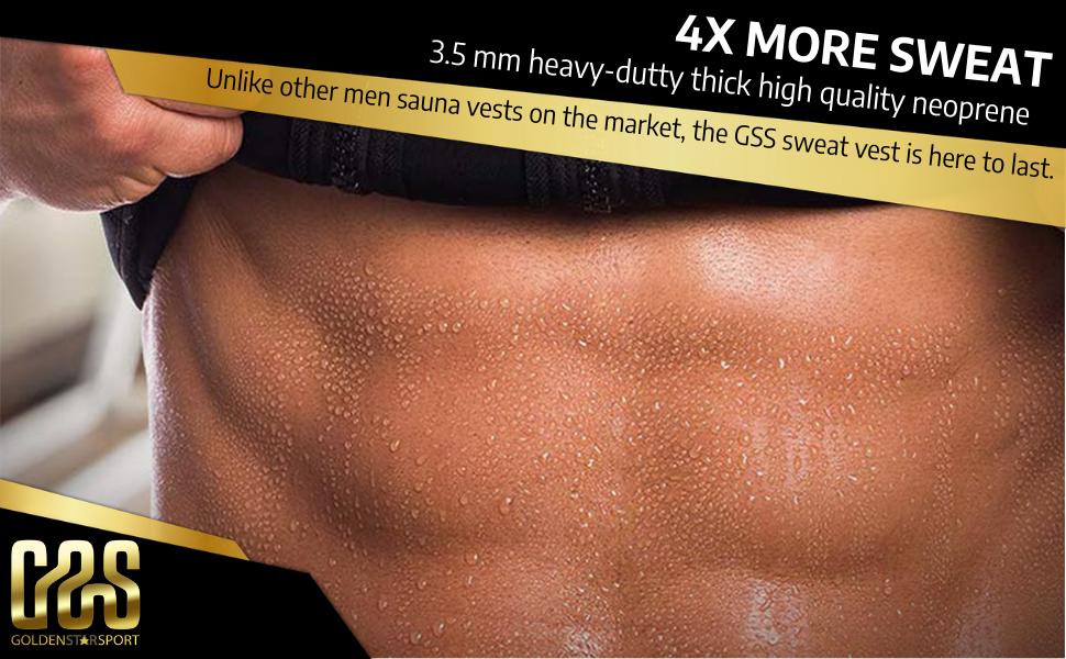 Goldenstarsport Men Waist Trainer Vest Hot Neoprene Sauna Suit Corset Body Shaper Zipper