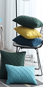 Faux Suede plaid throw pillow covers