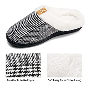 house slippers for women fuzzy home slippers cozy plush flat slippers comfortable cool gifts womens