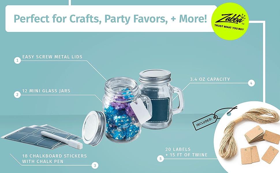 28 Mini Fall Glasses 53ml Marmalade Jars Lids Mason Jars Blue KARIE