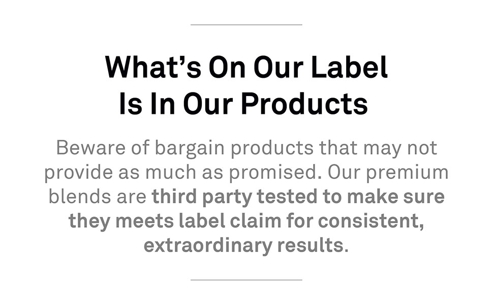 What's in Our Label is In Our Products