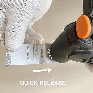 4pcs Carbide Grout Blades Set Oscillating Multitool Saw Blades for Dewalt