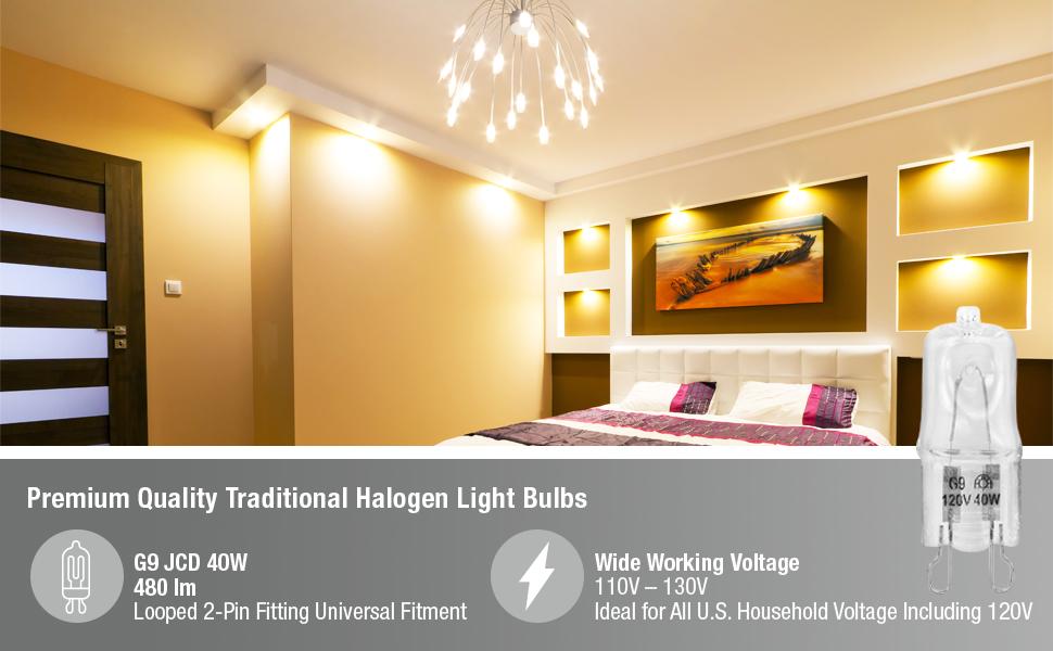 halogen light bulb for chandelier room mood lighting mini bulbs ambient lights G9