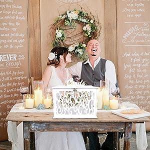 card box for wedding reception