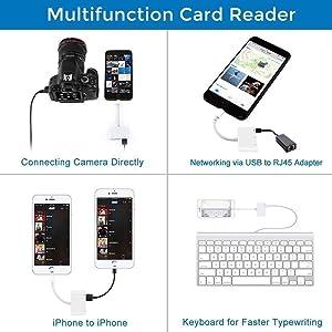 lightning to usb card reader