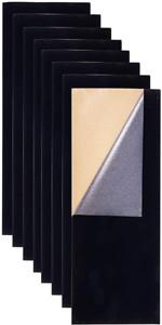 Durevole e Resistente allAcqua per Arte e Artigianato di Natale BENECREAT 20PCS Tessuto Fodera per Scatola Portagioie con Retro Adesivo in Velluto di Coloremisto con Scatola di Plastica