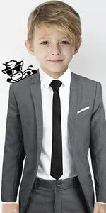 Black n Bianco Boys Signature Slim Fit Suit