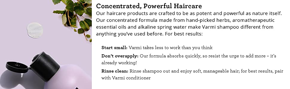 Varmi Shampoo and Conditioner Concentrated Haircare