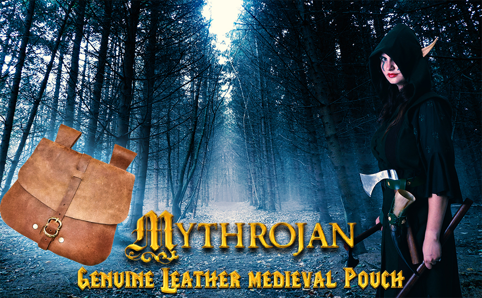 medieval lady pouch bag late middle age mage merchant knight noble nobleman waist pouch leather belt