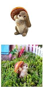 fairy garden miniature bunny rabbit animal figurine