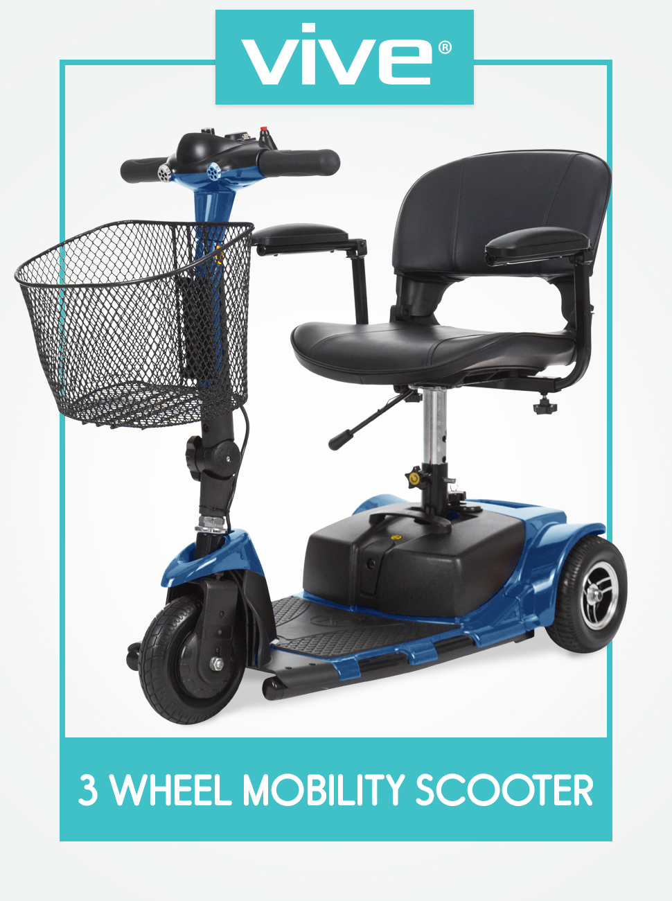 Amazon.com: Vive 3-Wheel Mobility Scooter - Electric Powered ...