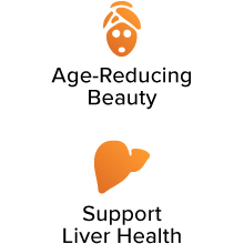Age-Reducing Beauty. Support Liver Health.
