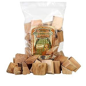 Smoker blocks alder, wood chunks alder, smoker chunks alder.