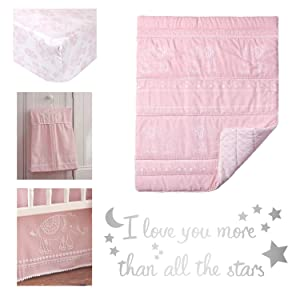 baby ely pink 5 piece crib bedding set levtex baby