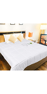 All-Season White Down Quilted Comforter