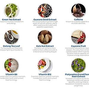 Ingredients caffeine, safe diet, vegan, energy