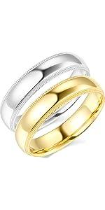 5mm Milgrain Comfort Fit Wedding Bands