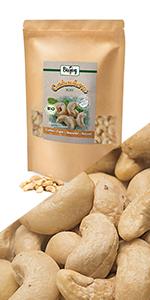 cashew heel rauw zonder zout zoutvrij niet gesteund meel walnoten helften stukjes noten zaden vezels