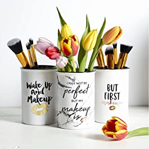 makeup brush holders tile