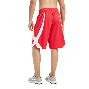 con tasche bicolori pantaloncini per allenamento di basket da uomo TopTie
