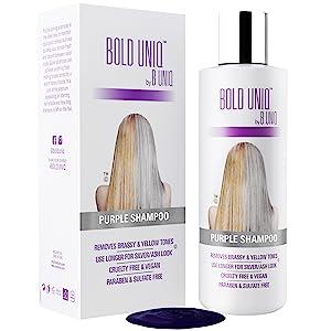 Purple shampoo silver shampoo hair toner grey platinum silver yellow brassy sulfate paraben free