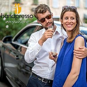 Koffiezetapparaat voor auto, handpers, koffiezetapparaat, 12 V.