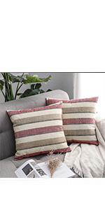 MIULEE Decorative Square Throw Pillow Covers Set Cushion Case Sofa Bedroom Car