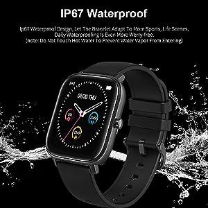 smart watch IP67 waterproof fitness tracker swimming watch rain splash dustproof shockproof