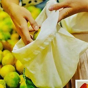 organic cloth produce bags