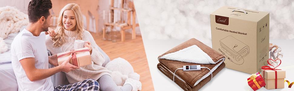 manta electrica térmica grande regalo del festival regalo de Navidad invierno