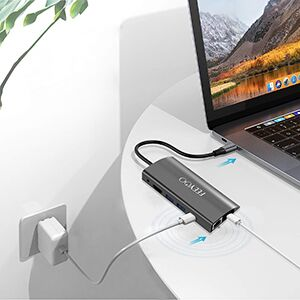 Hub USB C 9 en 1 USB C Hub Adaptador MacBook Pro con 4K HDMI ...