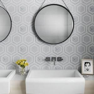 carrara thassos white hexagon marble mosaic tile-2