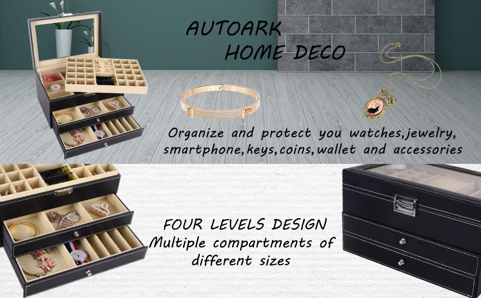 Jewelry Storage Holder Desktop Storage Holder Desktop Storage Rack Stylish Jewelry for Office Coins for Home