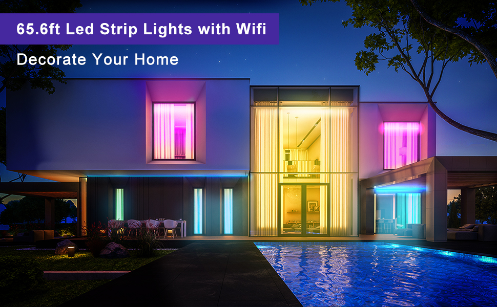 65.6ft led strip lights with wifi