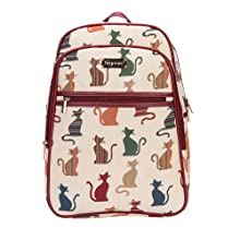 Signare Tapestry Handbag Satchel Bag Shoulder bag and Crossbody Bag and Purse for women with Cheeky Cat Design CONV-CHEKY