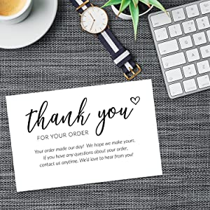 thank you for your purchase insert cards