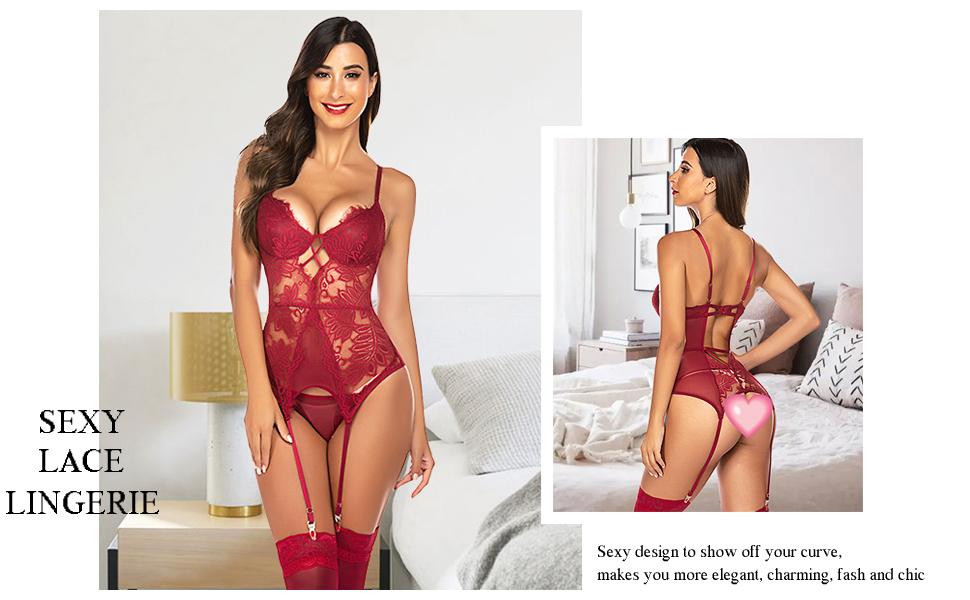 lace garter lingerie