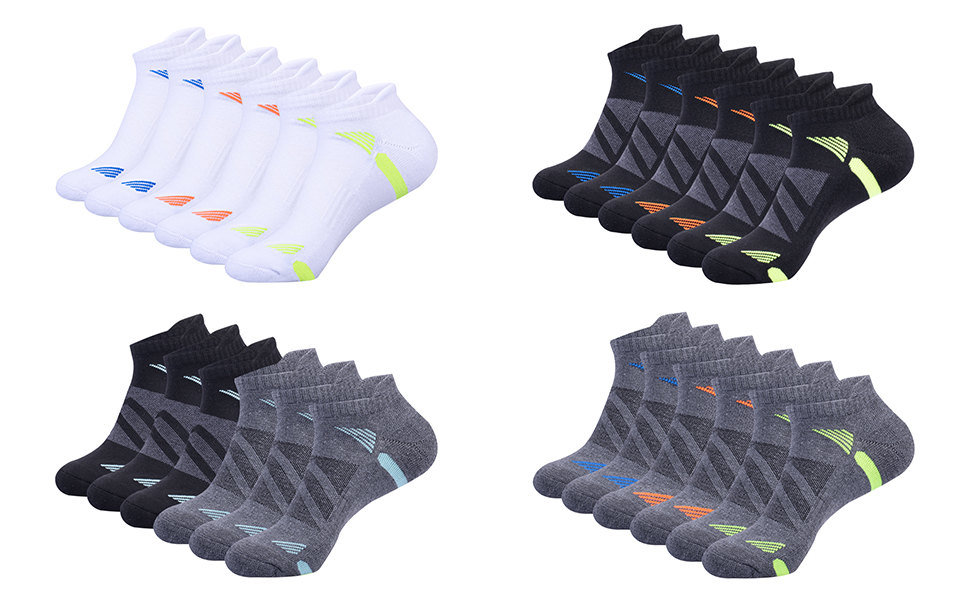 Colors of the mens sports socks