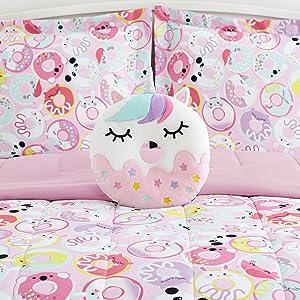 bedding set for girls, bedding, comforter sets, pink bedding sets, pink bedding, dessert beds