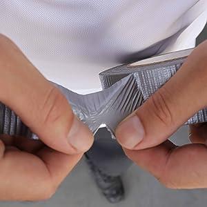 weefseltape, ductape, plakband, pantsertape, gemakkelijk te verwerken, met de hand scheurbaar.
