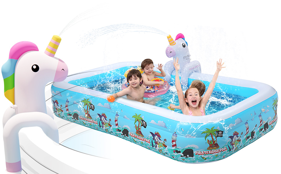 Mini Unicorn Water Sprinkler for Boys and Girls Summer Yard Outdoor Play
