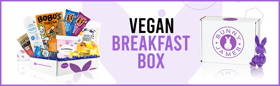 Bunny James Vegan Breakfast Snacks Care Package