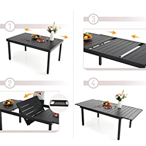 expanding outdoor table
