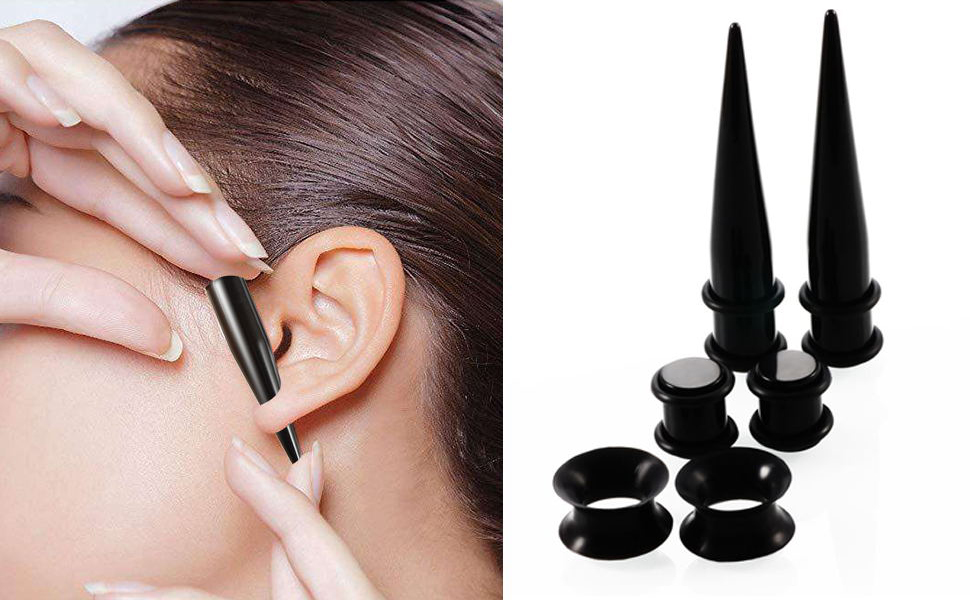 Taper put in ear smoothly
