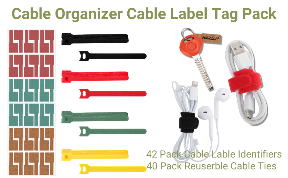 cable organizer cable labels tags pack