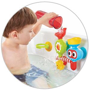 yookidoo baby bath toy spill n sprinkle lab set