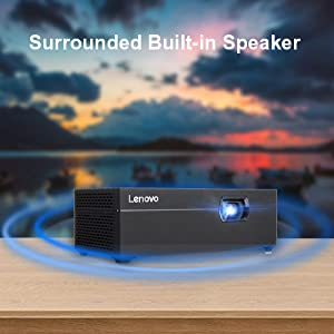 the black series led projector outdoor with with bluetooth sound, audio speaker