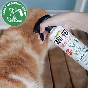 Spray on pet