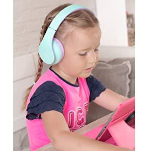 drahtlose Kopfhörer Bluetooth für Kinder, Kinderkopfhörer, Mädchen Kopfhörer Bluetooth, drahtlose tv