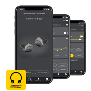The Jabra Sound+ app is the perfect companion to your Jabra headphones. Customize your sound,